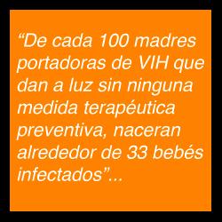 Estadisticas de madres infectadas de VIH