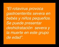 Rotavirus causante de Gastroenteritis