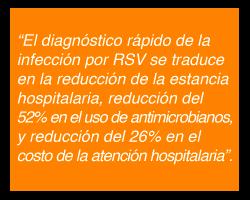El Diagnóstico Oportuno del RSV ayuda a la reducción hospitalaria
